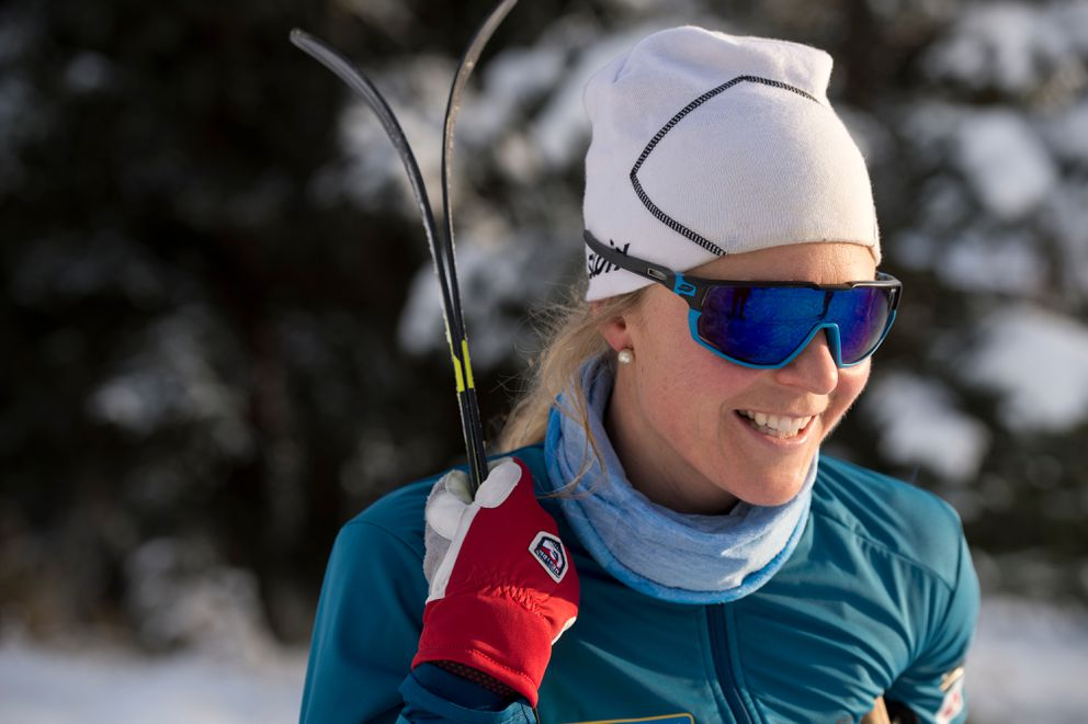 Two-time Olympic skier Sadie Maubet Bjornsen of Anchorage wrapped up a decade-long career Saturday at the World Championships. (Marc Lester / ADN)