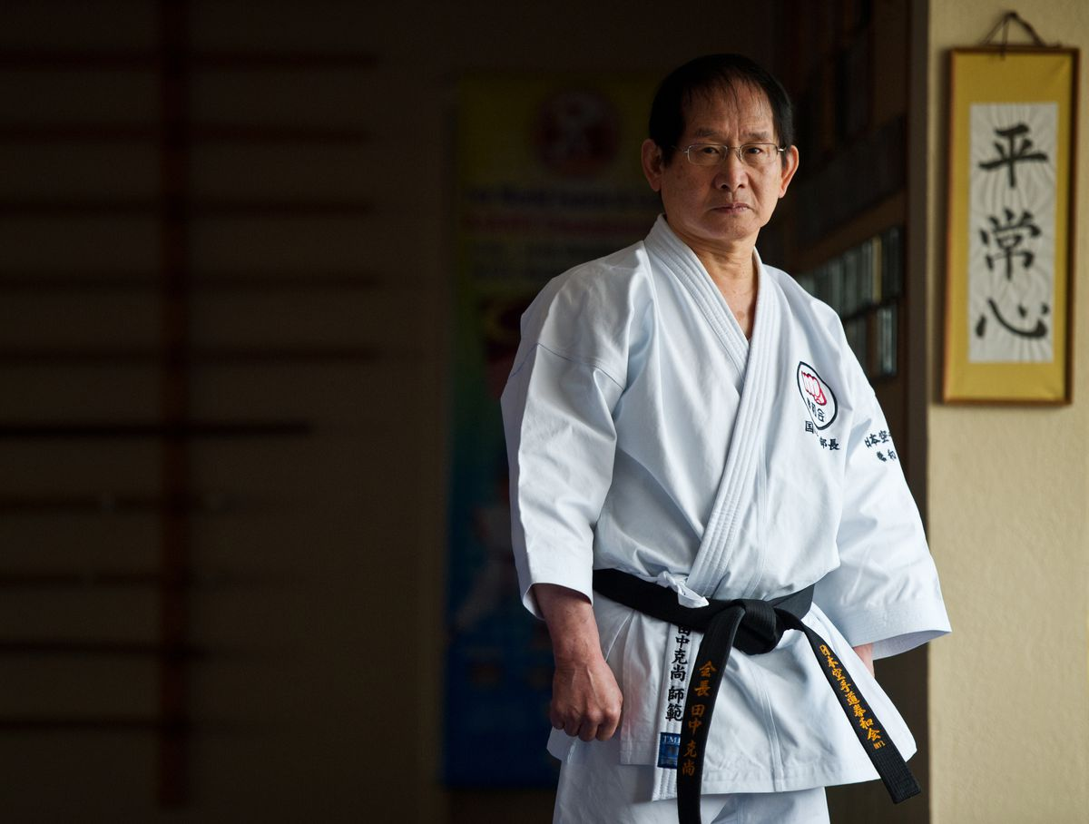 Sensei Katsutaka Tanaka has been teaching karate in Alaska since moving here from Japan in 1969. He's the founder and chief instructor of Tanaka's Martial Arts Academy in Midtown. (Marc Lester / Alaska Dispatch News)