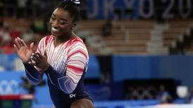 Competitor No. 392 won a bronze medal on beam. Simone Biles won the Tokyo Olympics.