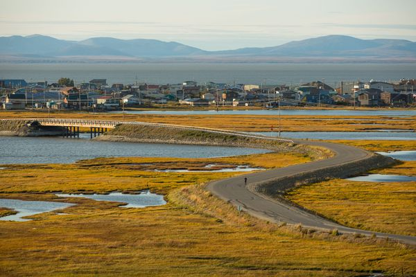The town of Kotzebue, Alaska, on Monday, August 31, 2015. (Loren Holmes / Alaska Dispatch News)
