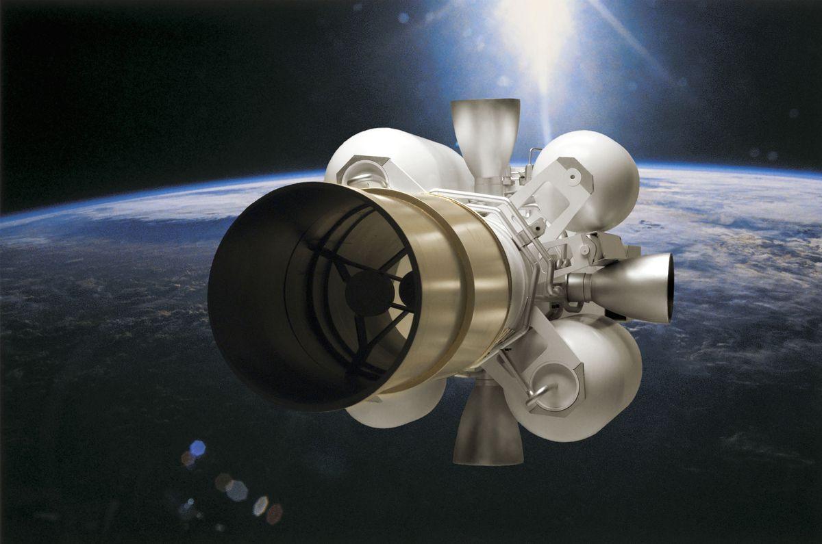 Artist's rendering of an anti-missile interceptor. (Photo courtesy Raytheon/TNS)
