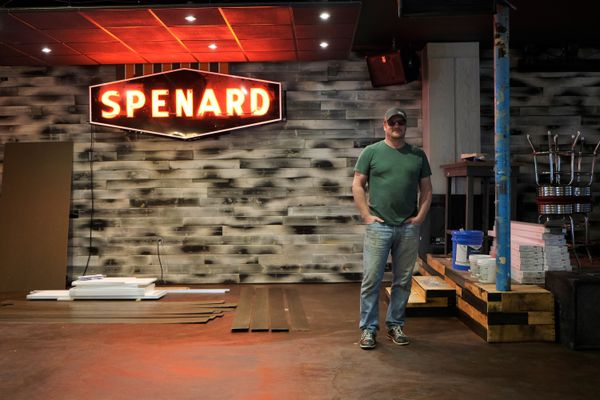 Hans Nowka, one of the owners of TapRoot, says the Spenard bar and live music venue is being remodeled and will be reopened as Route 33. Nowka said the Route 33 will focus more on food. Photographed on June 6, 2017. (Marc Lester / Alaska Dispatch News)