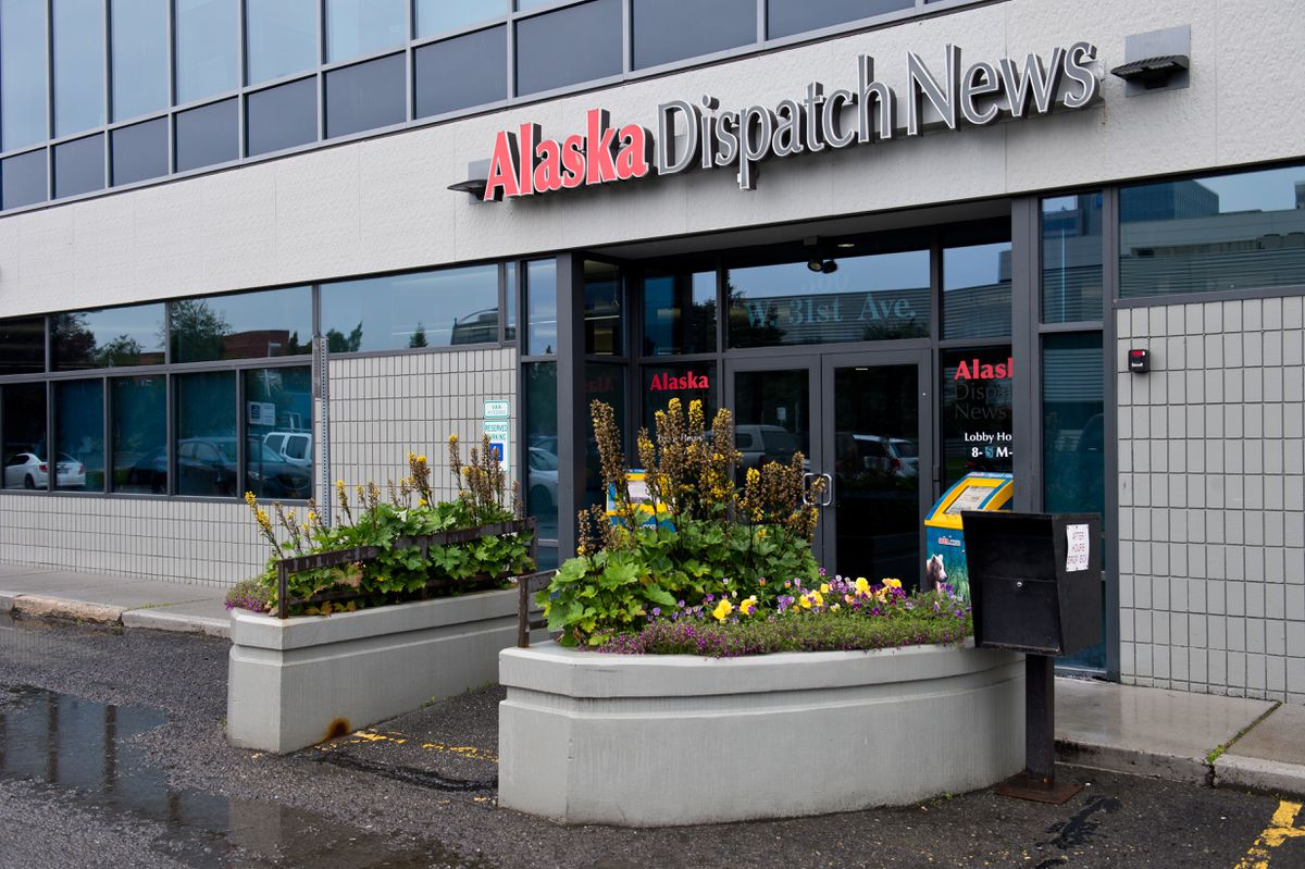 Alaska Dispatch News offices are located at 300 West 31st Avenue. Photographed on Aug. 21, 2017. (Marc Lester / Alaska Dispatch News)