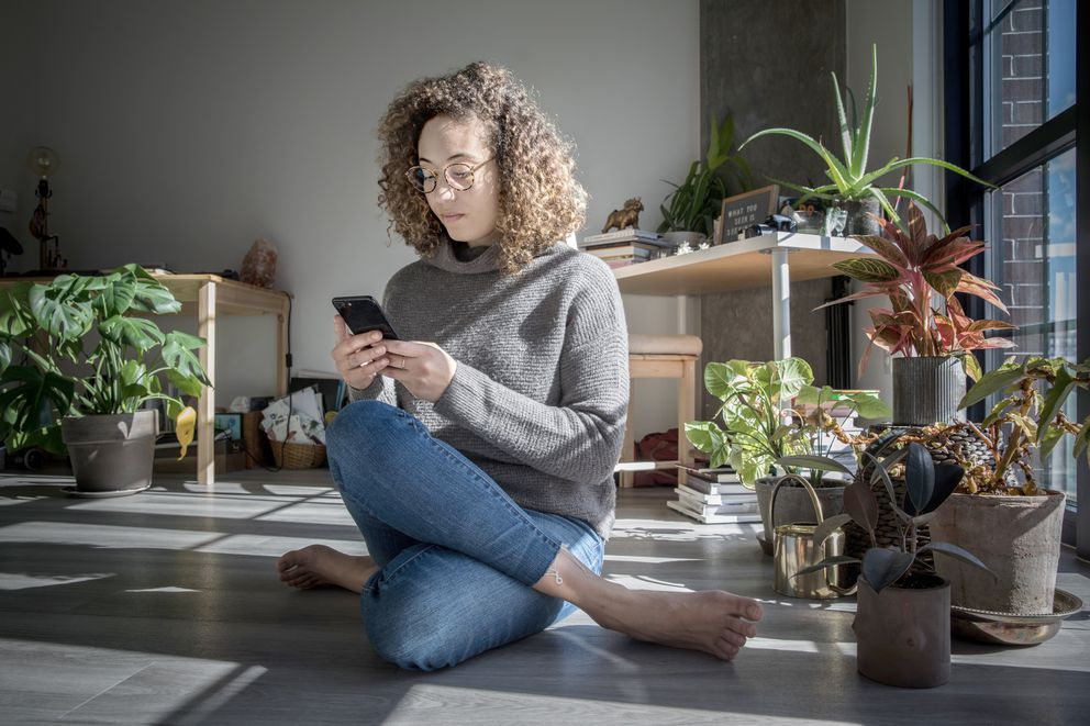 """I hope as a society we would take this collective breath,"" says Maya Oren, who is strategizing how to cut back on her smartphone usage. (Photo for The Washington Post by Evelyn Hockstein)"