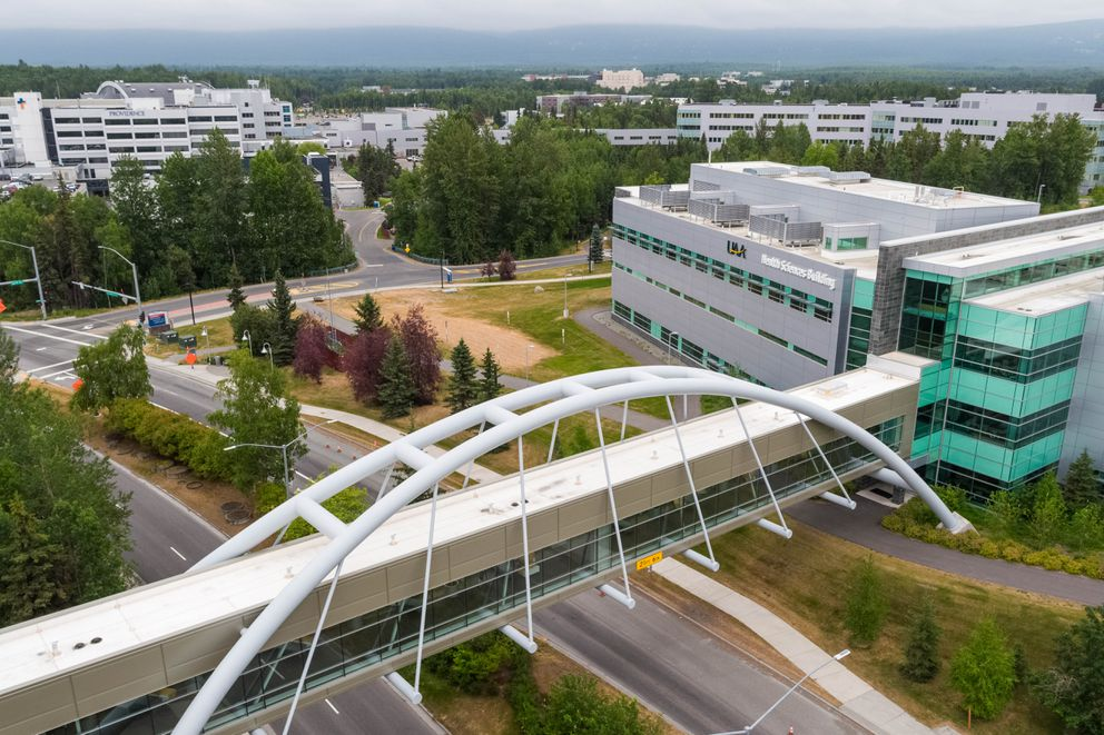 The University of Alaska Anchorage campus, photographed on Friday, July 12, 2019. (Loren Holmes / ADN)