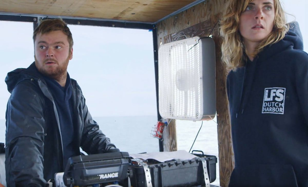 "Zeke and Emily head to Sledge Island on a recent episode of ""Bering Sea Gold."" (Screen capture via Discovery.com)"