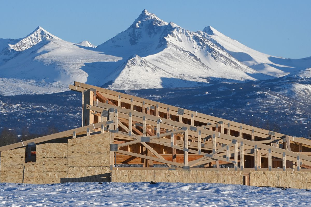 New home construction in the Westpark area near Sand Lake Road on Monday, Feb. 1, 2021. (Bill Roth / ADN)