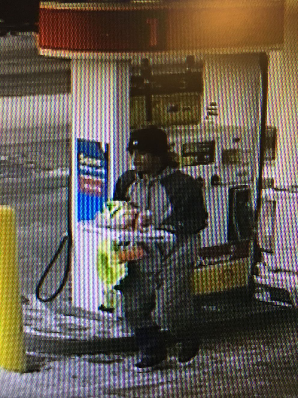 An image of the male suspect, believed to be armed (Anchorage Police Department)