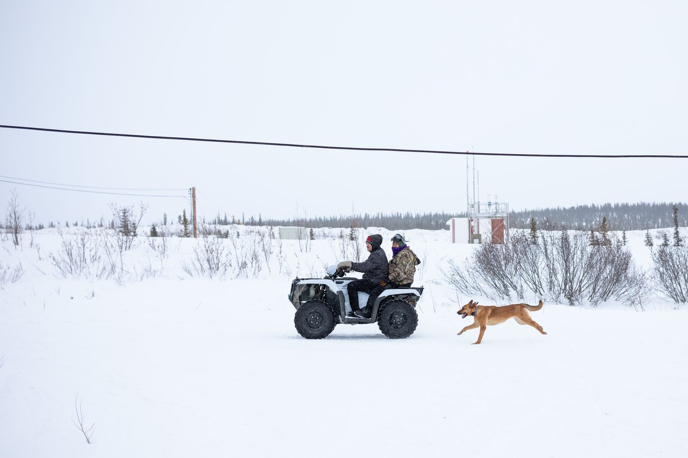 Kiana in March. Four-wheelers and snowmachines are the most common form of motorized transportation in the village. (Loren Holmes / Anchorage Daily News)