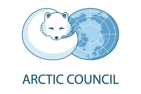 The logo of the Arctic Council.