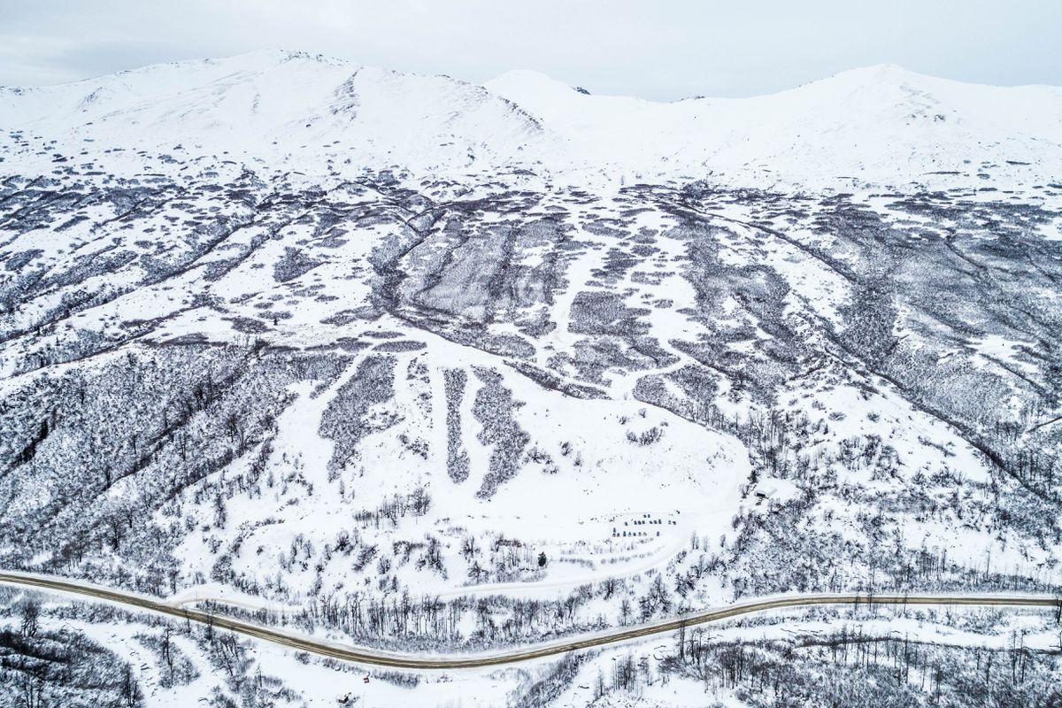 Skeetawk, an alpine ski area being developed in Hatcher Pass, on Saturday, Feb. 10, 2018. (Loren Holmes / ADN)