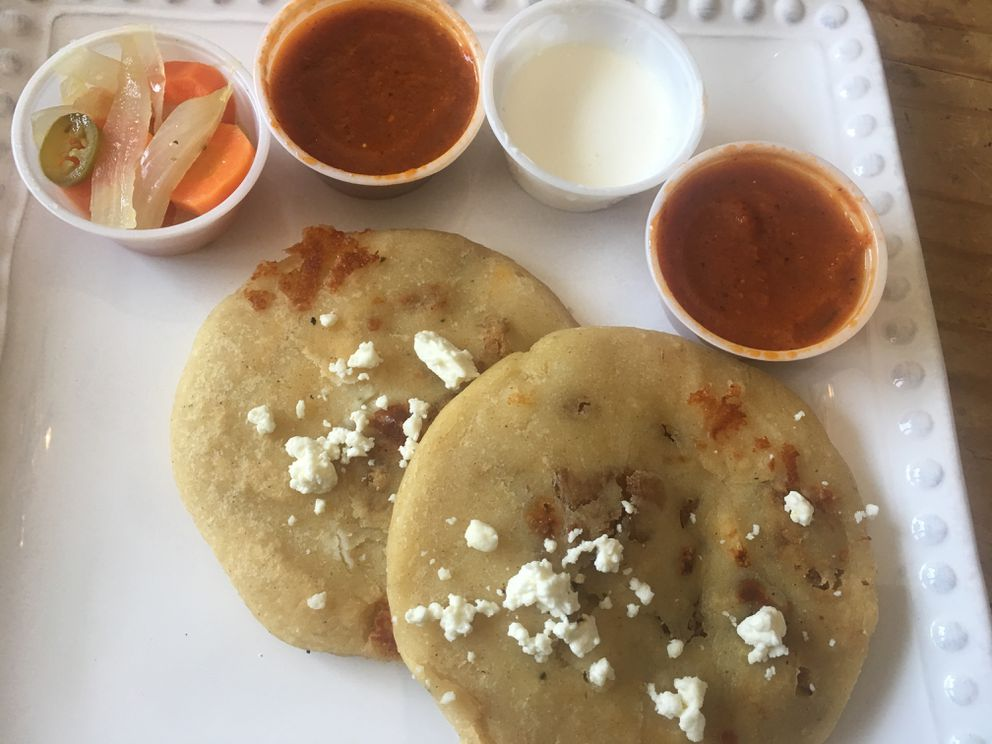Pupusas from the Mochilero's food truck in Anchorage (photo by Mara Severin)