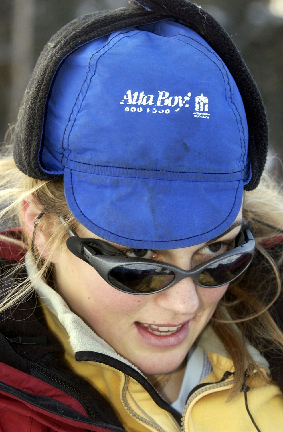 Rachael Scdoris from Bend, Oregon, became the first legally blind musher to finish the Iditarod in 2005. (Jim Lavrakas / ADN)