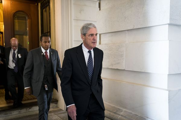 Robert Mueller, the special counsel leading the Russia investigation, leaves the Capitol in Washington, June 21, 2017. Mueller provided President Donald Trump's lawyers a list of questions that show the special counsel's focus on obstruction of justice and touch on some surprising other areas. (Doug Mills/The New York Times)