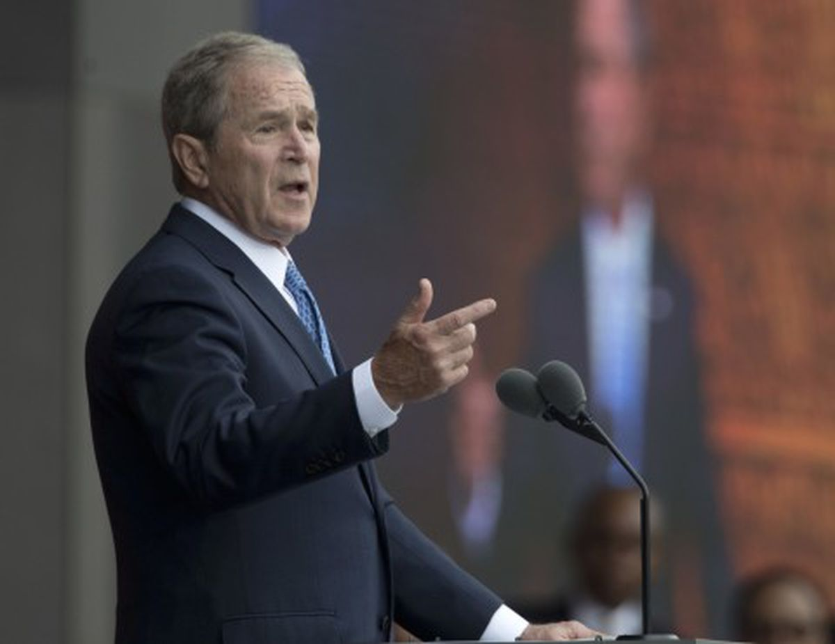 George W. Bush explains his fondness for Michelle Obama