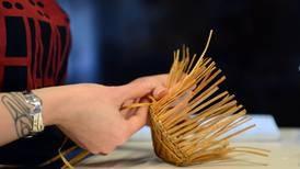 Twined red cedar bark Tsimshian baskets take shape at Anchorage Museum