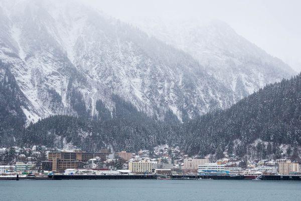 Downtown Juneau, seen from Douglas Island on Tuesday, December 2, 2014.