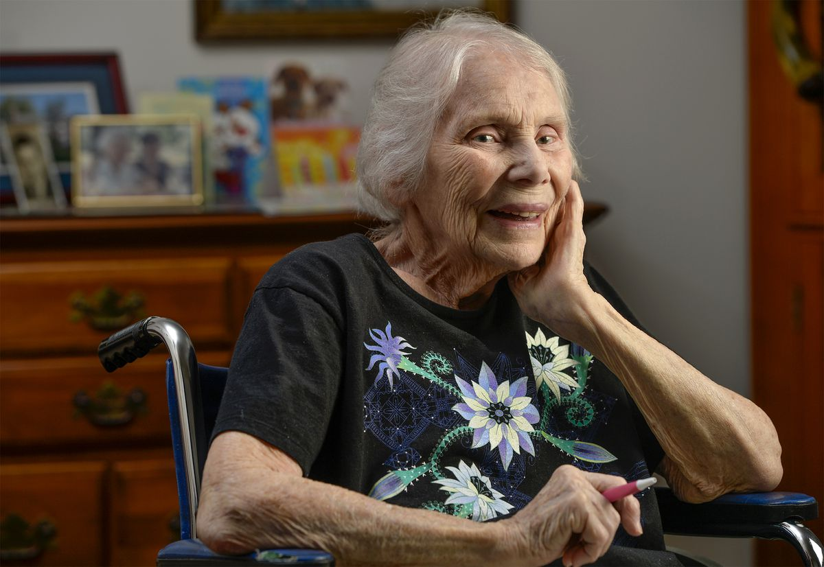 Gladys Ament, 96, was born the year that women were given the right to vote. She recently filed her absentee ballot from her home at an assisted living facility in Solomons, Maryland. (Photo for The Washington Post by Doug Kapustin)