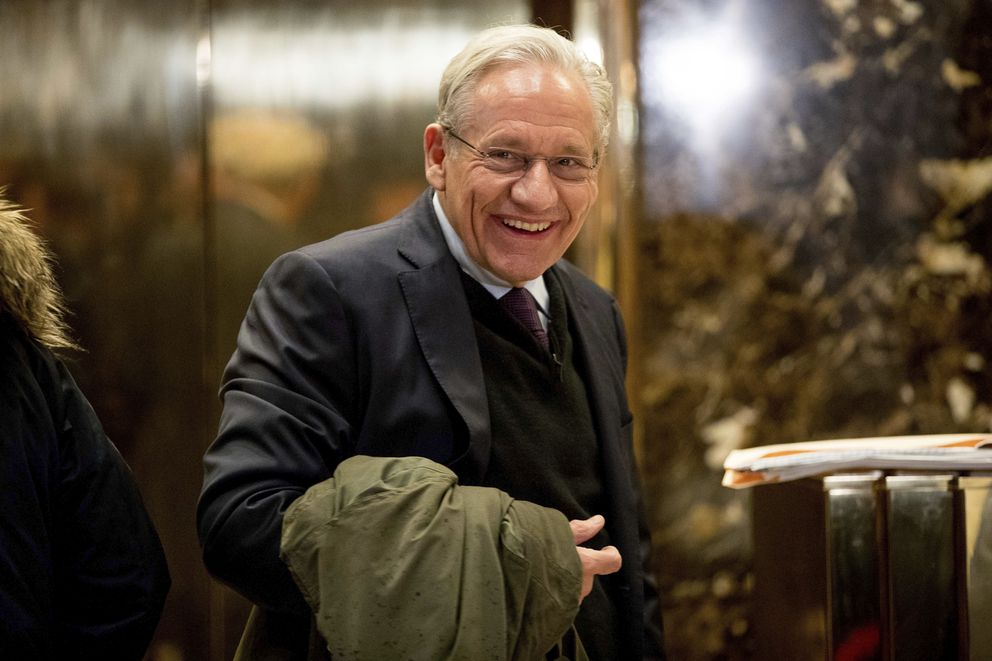 Washington Post associate editor Bob Woodward arrives at Trump Tower in New York in 2017. Woodward, facing widespread criticism for only now revealing President Donald Trump's early concerns about the severity of the coronavirus, told The Associated Press that he needed time to be sure that Trump's private comments from February were accurate. (AP Photo/Andrew Harnik, File)