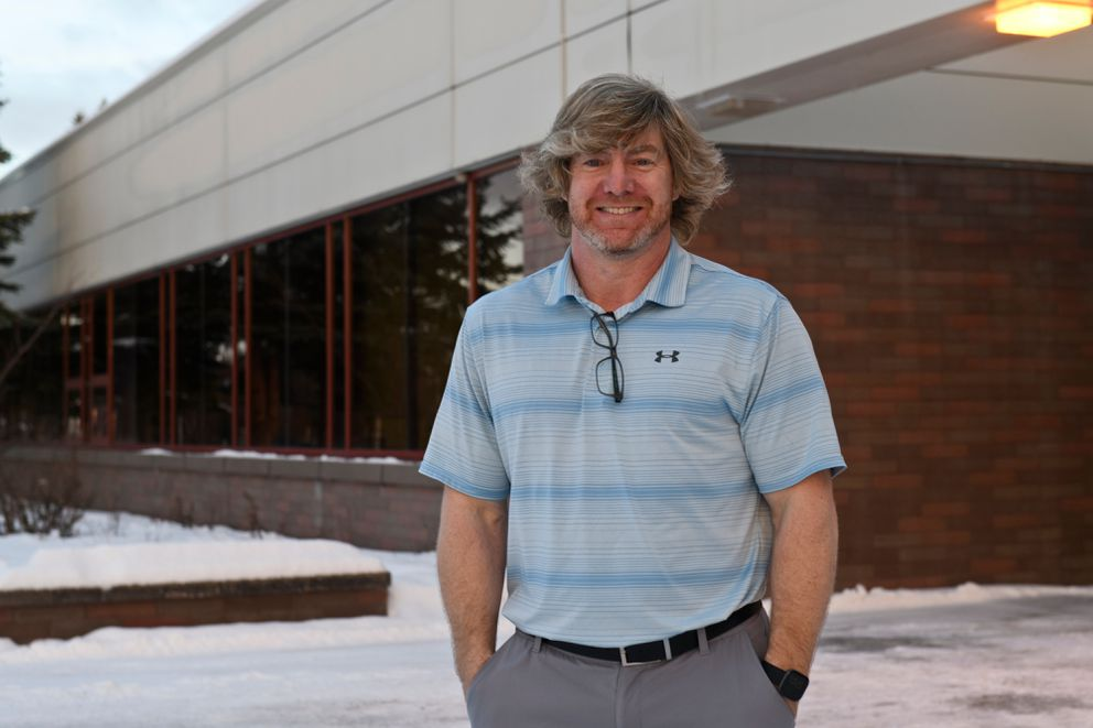 Sarge Truesdell is in his 10th year as principal at Skyview Middle School in Soldotna. (Marc Lester / ADN)