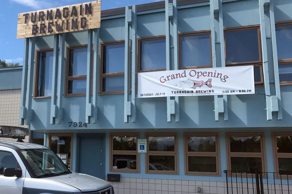 Turnagain Brewing, at 7920 and 7924 King St., had its grand opening Saturday, July 14, 2018. (Annie Zak / ADN)