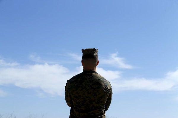 A Marine in California. (REUTERS / Mike Blake / file)