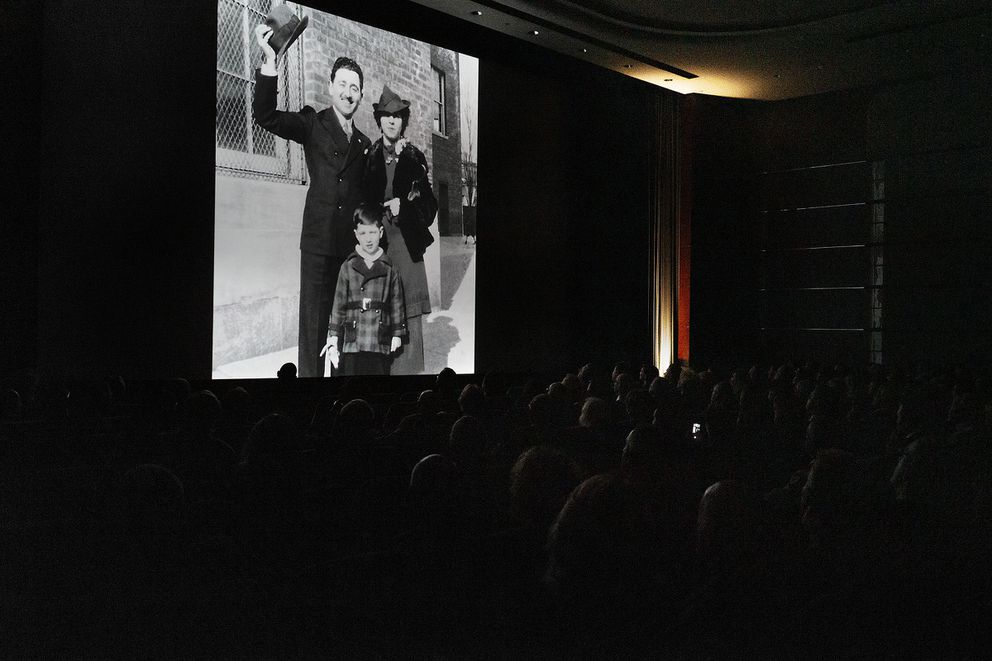 A film commemorating Howard West features a photo of him and his parents in the Bronx. (Photo for The Washington Post by Spike Mafford)