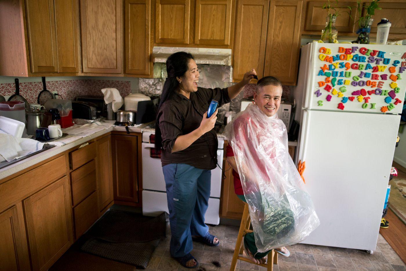 Eden and Roger Manalo, photographed on Thursday, September 29, 2016.(Marc Lester / Alaska Dispatch News)