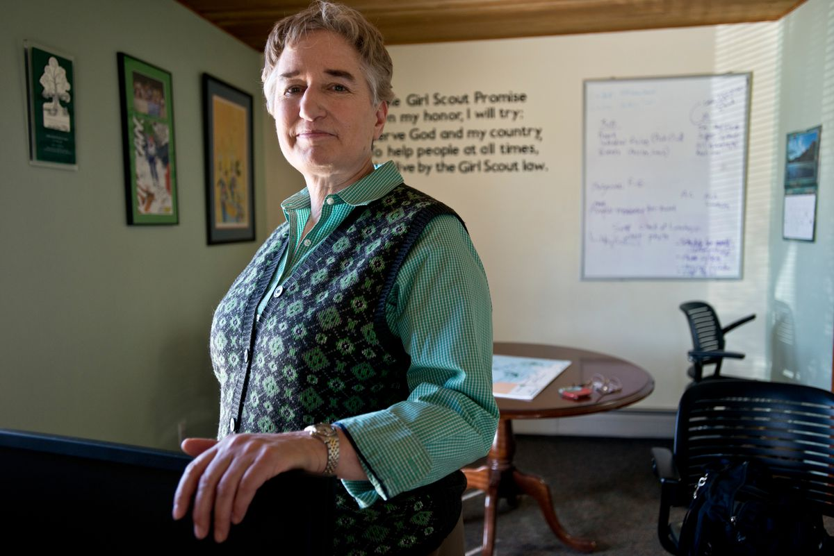 Sue Perles, photographed on April 14, is the CEO of Girl Scouts of Alaska. (Marc Lester / Alaska Dispatch News)