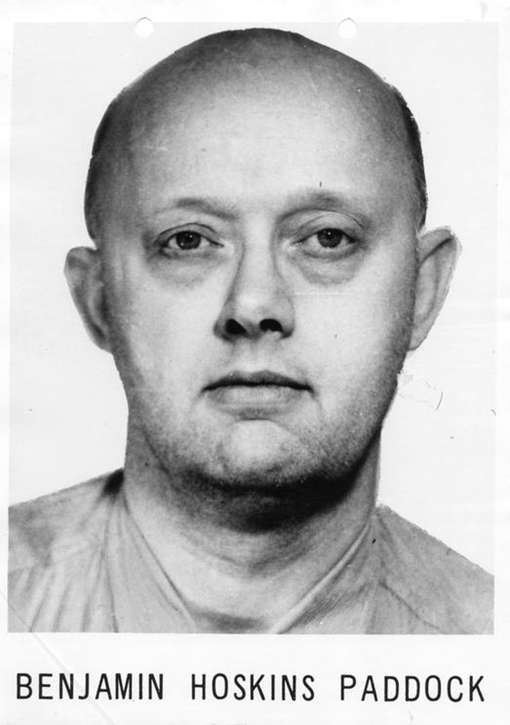 "Benjamin Hoskins Paddock was once described in a wanted poster as ""psychopathic"" with suicidal tendencies. FBI handout photo"