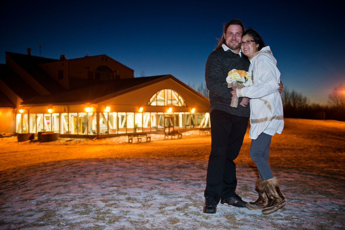 Tom Kehrberg and Barb Towarak were married at a small ceremony at the Kincaid Park Chalet on Thursday, December 10, 2015.