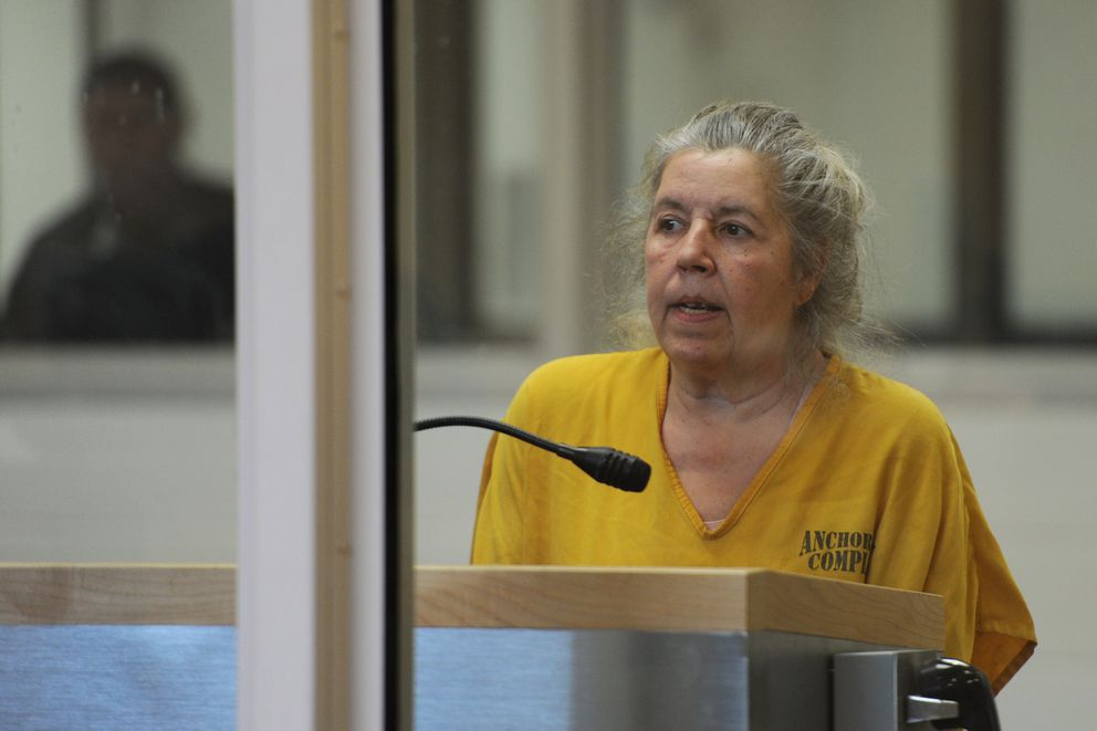 Yolanda Castro was arraigned in the Anchorage Correctional Complex court on Wednesday, May 17, 2017, after being charged with first-degree and second-degree murder in the shooting death of 40-year-old Liteh Fogg on Tuesday evening. (Bill Roth / Alaska Dispatch News)