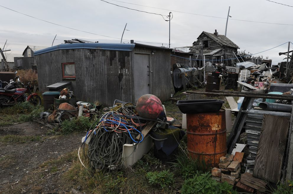 Neighbors said Peter Wilson sometimes visited and stayed at this residence in Kotzebue on Monday, Sept. 17, 2018. (Bill Roth / ADN)
