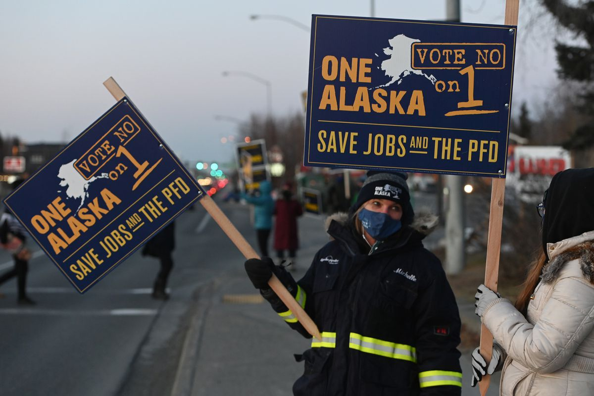 One Alaska supporters urged people to