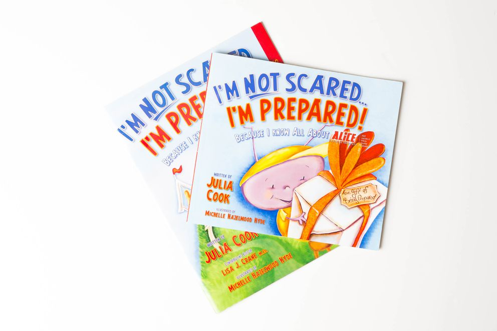 """I'm not scared … I'm prepared!"" is a children's book designed to teach the principles of ALICE, an active shooter response that the Anchorage School District is implementing. (Loren Holmes / Alaska Dispatch News)"