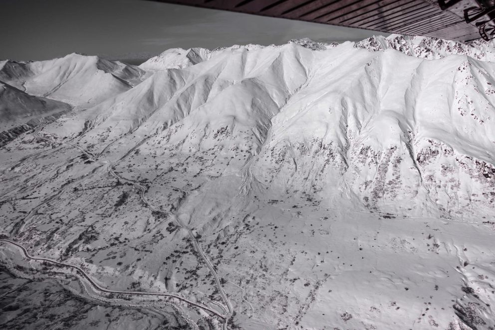 A major storm brought a lot of snow and wind to the Hatcher Pass area April 4, 2021. Many avalanches resulted. Avalanche debris covers the road in 5 locations including Archangel trail and snogo corridor trail. (Photo credit Hatcher Pass Avalanche Center)