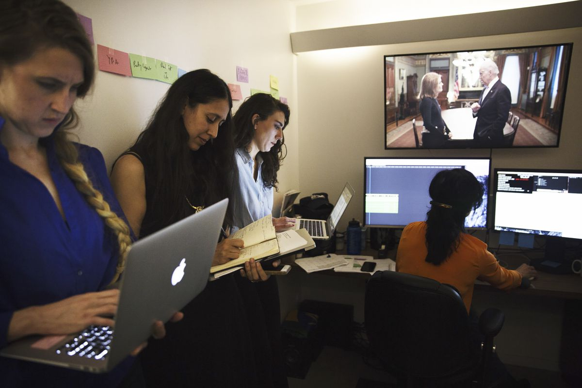 A Vice video editing room in Brooklyn, where the company is headquartered, April 26, 2016. (Malin Fezehai/The New York Times file)