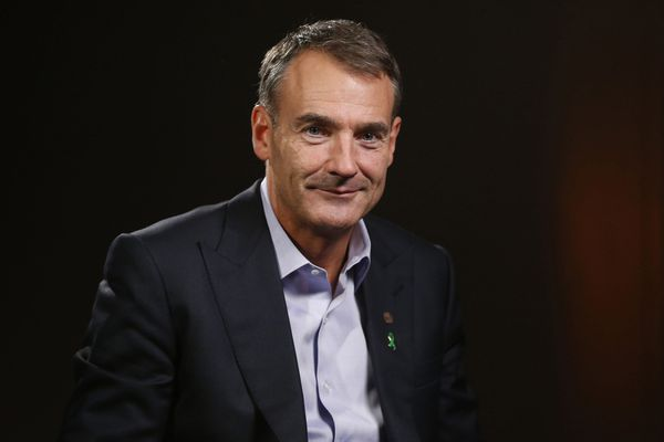 Bernard Looney, chief executive officer of BP, during a Bloomberg Television interview in London on Feb. 12, 2020. Bloomberg photo by Hollie Adams.