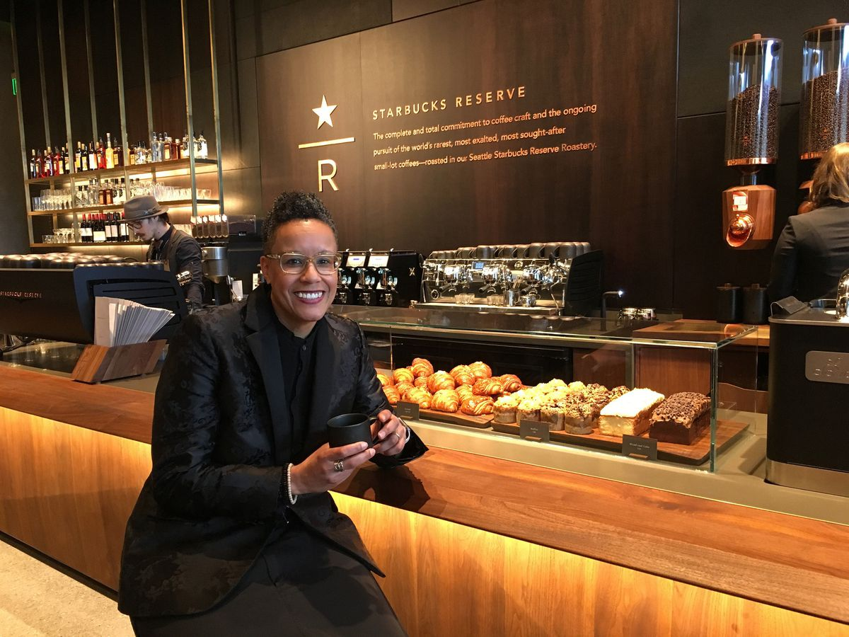 Shauna McKenzie-Lee, director of operations for Starbucks' Siren Retail line, including the Roastery and Reserve premium store formats. (Benjamin Romano / Seattle Times/TNS)