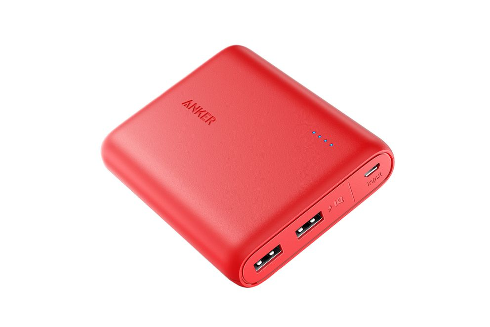 Anker's PowerCore Portable Charger 13000 is smaller than most wallets and features two USB ports. (Anker handout photo)