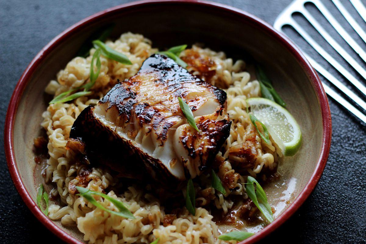 Ginger-soy glazed sablefish over ramen noodles (Maya Wilson / Alaska from Scratch)