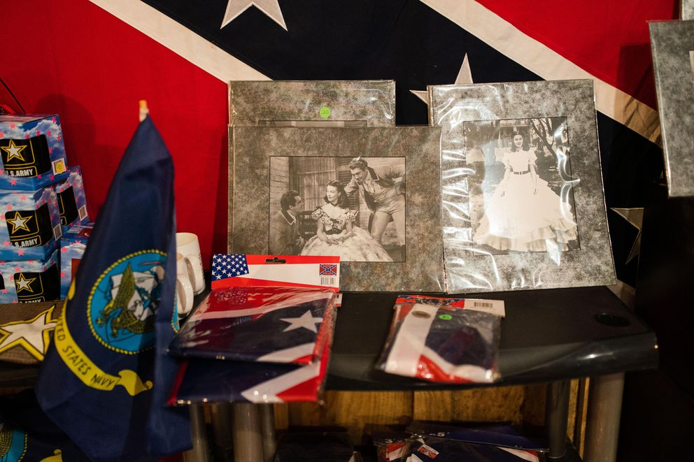 Along with current military paraphernalia and flags, stills from the 1939 movie 'Gone With the Wind ' are available. (Photo by Kevin D. Liles for The Washington Post)