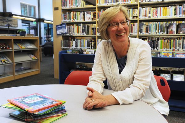 Librarian Nancy Bertels is retiring after a 35 year career serving her community working at the Sutton Public Library. (Bill Roth / ADN)