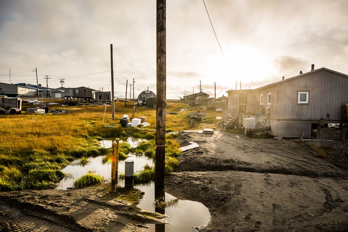 The village of Kaktovik, on Alaska's North Slope, is the only permanent settlement in the Arctic National Wildlife Refuge's 1002 area, where there is great oil and gas potential. Photo taken September 10, 2012. (ADN archive)