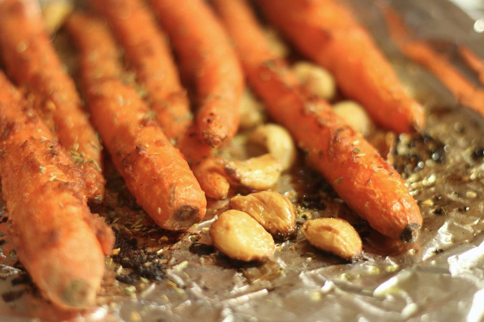 Photos by Shannon Kuhn Moroccan-Alaskan harissa roasted carrots