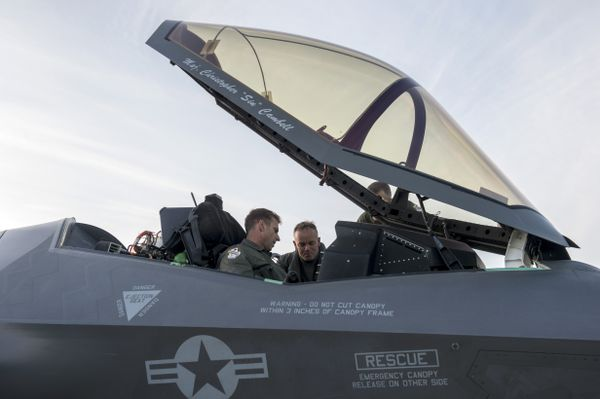 The first F-35 jet is being tested at Eielson Air Force Base