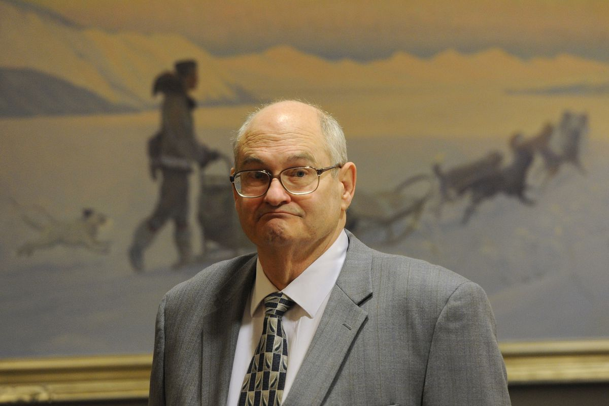 Nome Superior Court Judge Timothy Dooley at a hearing before the Commission on Judicial Conduct in the Nesbett Courthouse in Anchorage on Thursday, Dec. 10, 2015. (Bill Roth / Alaska Dispatch News)