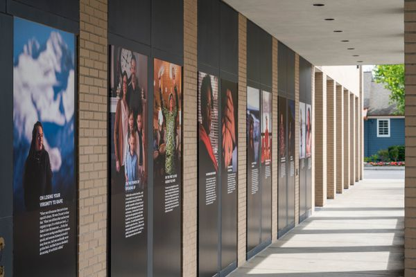 An installation of the Unheard project is displayed at the Anchorage Museum on July 2, 2020. (Loren Holmes / ADN)