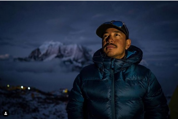 Nepal's Nimal Purja climbed the 14 peaks that tower over 26,000 feet over the course of six months and six days. (Screengrab via Instagram / @nimsdai)