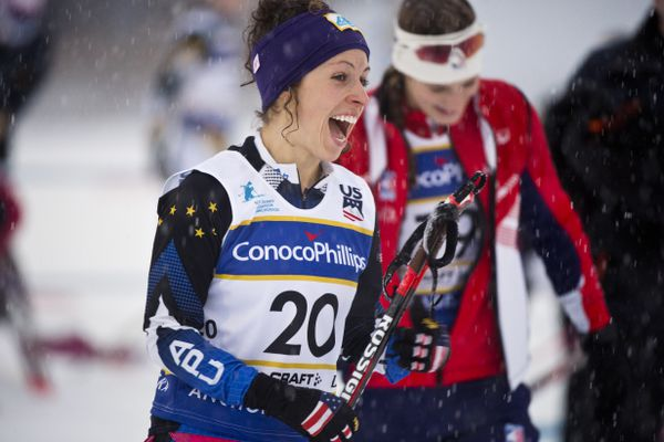 Alaskans in the 2018 Olympics: Cross country skier Rosie Frankowski, 26, claimed third place in the women's 20K at at the 2018 U.S. Cross Country Ski Championships at Kincaid Park this month. (Marc Lester / ADN)